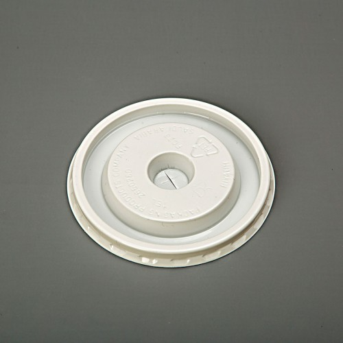 Lid Flat 12 - 16 oz Juice Cup White