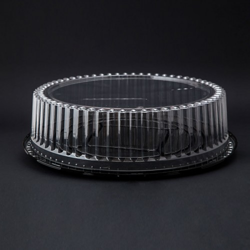 "Lid Dome Cake 3.5""  CLR"